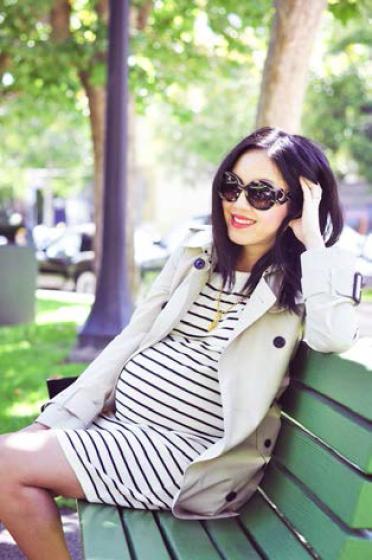 O que pode vestir uma grávida - The Cute Mommy Blog